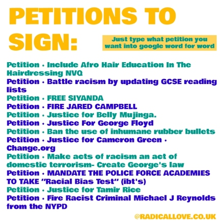 PETITIONS TO SIGN